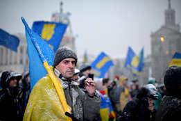 ukrainalainen mielenosoittaja